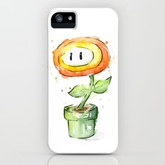 Fireflower Mario Watercolor Slim Case iPhone SE