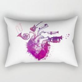 I love music red Rectangular Pillow