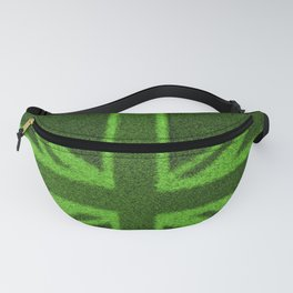 Grass Britain / 3D render of British flag grown from grass Fanny Pack