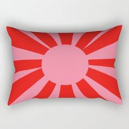 Pink Red Summer Sun Rectangular Pillow