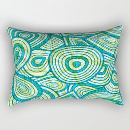 Green Blue Groove Thang Rectangular Pillow