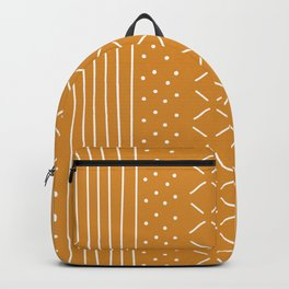 Milenesa Mustard Mud Cloth Backpack