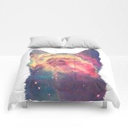 space in cat Comforters