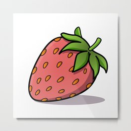 Red Strawberry Metal Print