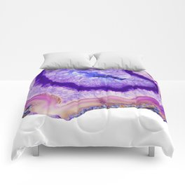 purple agate slice Comforters