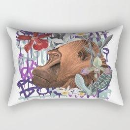 Graffiti Gorilla Jungle Monkey Rectangular Pillow