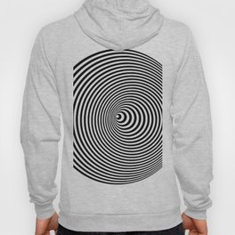 Vortex, optical illusion black and white Hoody
