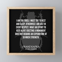 74  |  Franz Kafka Quotes | 190517 Framed Mini Art Print