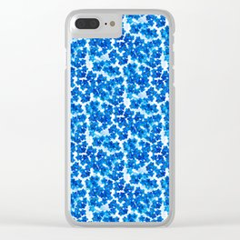 Forget-me-not Flowers White Background #decor #society6 #buyart Clear iPhone Case
