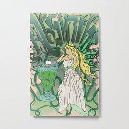 Art Nouveau Absinthe Poster Metal Print