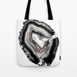 Agate Rose Gold Glitter Glam #1 #gem #decor #art #society6 Tote Bag