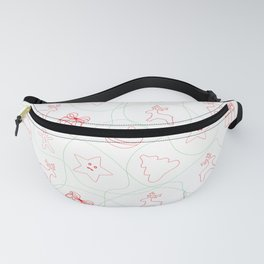 Christmas pattern on red, green and white colors Fanny Pack