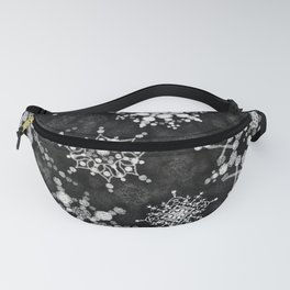 Gray Snowflakes Fanny Pack