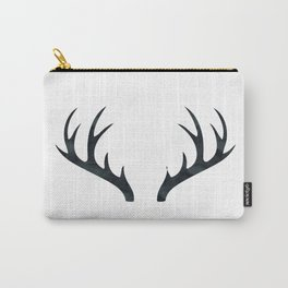 Antlers Black and White Carry-All Pouch