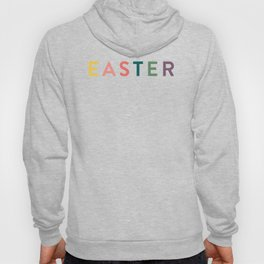 Colourful Happy Easter Typography Hoody