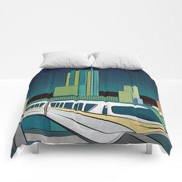 Progress City - MonoRail Comforters