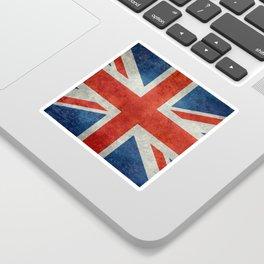 """UK Union Jack flag """"Bright"""" retro grungy style Sticker"""