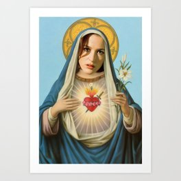Saint Scully Art Print