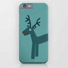 Reindeer-Teal iPhone 6s Slim Case