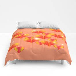 Floating and flying hearts. Comforters