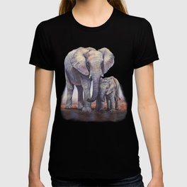 Elephants Mom Baby T-shirt