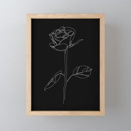 White Rose Framed Mini Art Print
