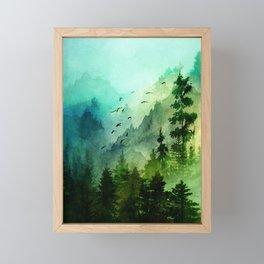 Mountain Morning Framed Mini Art Print
