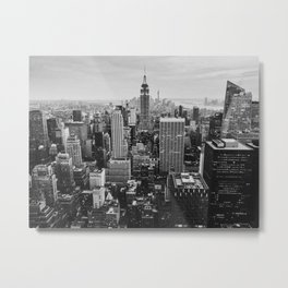 Black & White NYC Skyline Metal Print
