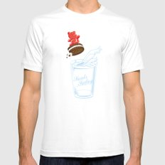 Sweets Surfing White Mens Fitted Tee MEDIUM