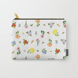 Flourishing Floral Carry-All Pouch