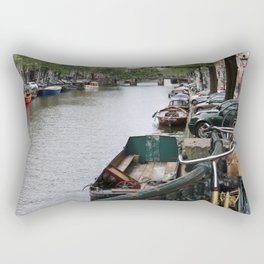 canal in the city Rectangular Pillow