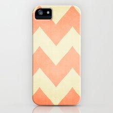 Fuzzy Navel - Peach Chevron Slim Case iPhone (5, 5s)
