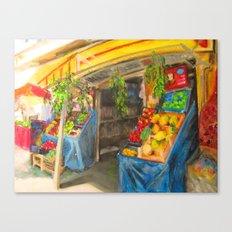 At the Market Canvas Print