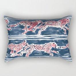 Navy SPEEDY CHEETAHS Rectangular Pillow