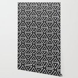 Big Triangles in Black and White Wallpaper
