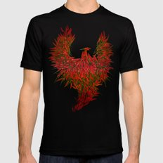 Hot Wings! LARGE Mens Fitted Tee Black