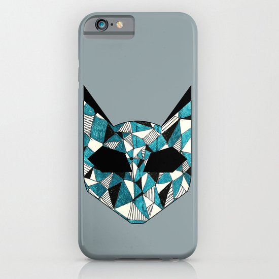 Turquoise Cat iPhone & iPod Case