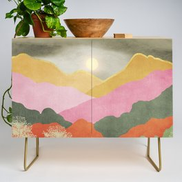 Colorful mountains Credenza
