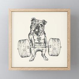 English Bulldog Lift Framed Mini Art Print