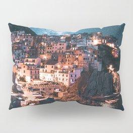manarola at night Pillow Sham