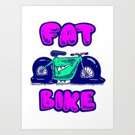 Fat Bike Art Print