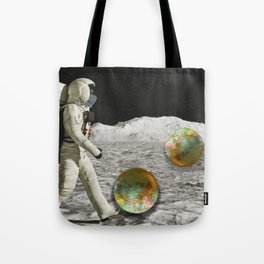 Moon Shot #collage Tote Bag