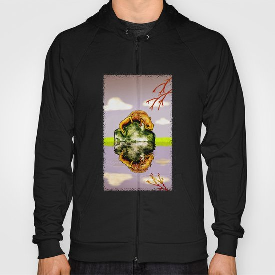 Reflect upon yourself on a rainy day  Hoody
