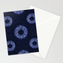 Shibori on Navy Stationery Cards