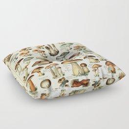 Vintage Mushroom & Fungi Chart by Adolphe Millot Floor Pillow
