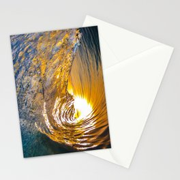 Golden Wave Stationery Cards
