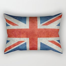 Square Union Jack retro style, made for the Pillows, Duvets and Shower curtains Rectangular Pillow