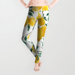 yellow lemon watercolor 2020 Leggings