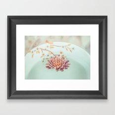 Vintage flower floating Framed Art Print