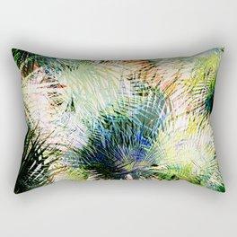 Modern palm leaves tropical abstract design Rectangular Pillow